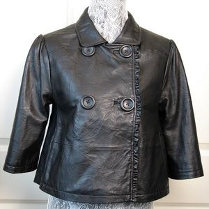 Joe's Jeans Double Breasted Leather Jacket S